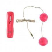 Вибрирующие вагинальные шарики розового цвета, розовый