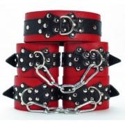 Набор фиксаторов с мехом, красный с черным
