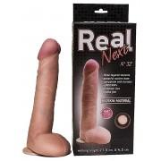Большой фаллоимитатор из неоскин на присоске REAL Next №32 - 24,5 см., телесный