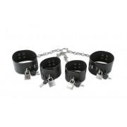 Набор чёрных фиксаторов для рук и ног, черный