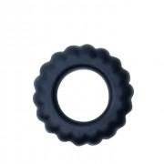 Эреционное кольцо с крупными ребрышками Titan, черный