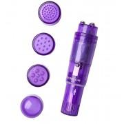 Фиолетовая виброракета Erotist с 4 насадками, фиолетовый