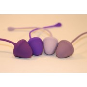 Набор из 4 вагинальных шариков разного веса, разноцветный