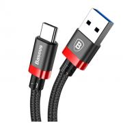 Кабель Belt Series Baseus USB 3.0 to Type-C 3A CATGB-19 (Черно-красный)