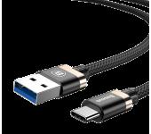 Кабель Golden Belt Series Baseus USB 3.0 to Type-C 3A CATGB-1V (Черно-золотой)