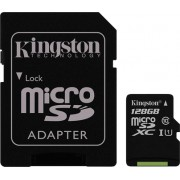 Карта памяти Kingstone MicroSD 128 Gb Class 10 + Adapter SD