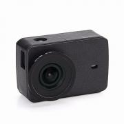Кожаный чехол, УФ- фильтр и защитная крышка объектива для Xiaomi Yi 2 4K (Черный)