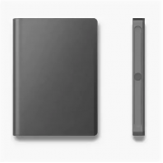 Блокнот-записная книжка с замком и отпечатком пальца (Темно-серый)