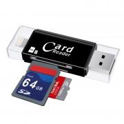 Считыватель контактных смарт-карт Card Reader 3 in 1 (Черный)