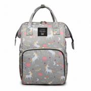 Сумка-рюкзак для мам Barrley Prince Пони Единорог (Серый)