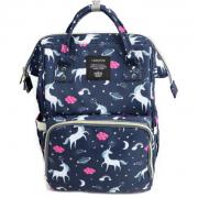 Сумка-рюкзак для мам Barrley Prince Пони Единорог (Синий)