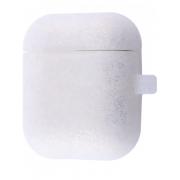 Чехол с карабином Elago AirPods 2 Hang Case с блестками (Серебряный)