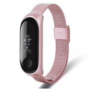 Металлический ремешок для Xiaomi Mi Band 3/4 (Розовый)