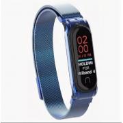 Металлический ремешок для Xiaomi Mi Band 3/4 (Синий)