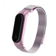 Металлический ремешок для Xiaomi Mi Band 3/4 (Светло-розовый)