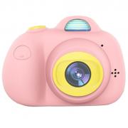 Детская цифровая мини камера фотоаппарат (Розовая)