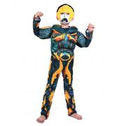 """Детский маскарадный костюм супергероя с мускулами """"Бамблби"""" размер L"""