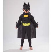 """Детский маскарадный костюм супергероя с мускулами """"Бэтмен"""" размер S"""