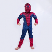 """Детский маскарадный костюм супергероя с мускулами """"Человек паук"""" размер M"""