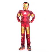 Детский маскарадный костюм супергероя с мускулами Железный человек размер M