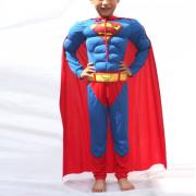 """Детский маскарадный костюм супергероя с мускулами """"Superman"""" размер S"""