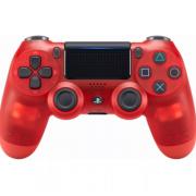 Беспроводной Bluetooth контроллер DualShock 4 для Sony PlayStation 4 (Прозрачно-красный)