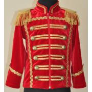 Детский маскарадный костюм Гусара размер M (Красный)