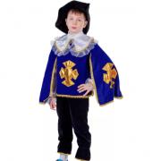 Детский маскарадный костюм Мушкетера размер L (Синий)