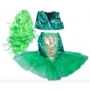 Карнавальный костюм Русалочки размер S (Зеленый)