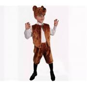 Карнавальный костюм Бурый медведь жилет, маска и шорты (Коричневый)