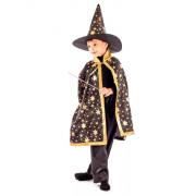 Карнавальный костюм Маг Звездочет (Золотисто-черный)