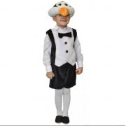 Карнавальный костюм Пингвин жилет, маска и шорты (Черно-белый)