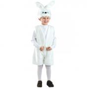 Карнавальный костюм Зайчик беленький жилет, маска и шорты (Белый)