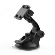 Автомобильный держатель для видеорегистраторов на присоске (Черный)