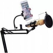 Держатель для микрофона с креплением для мобильного телефона (Черный)