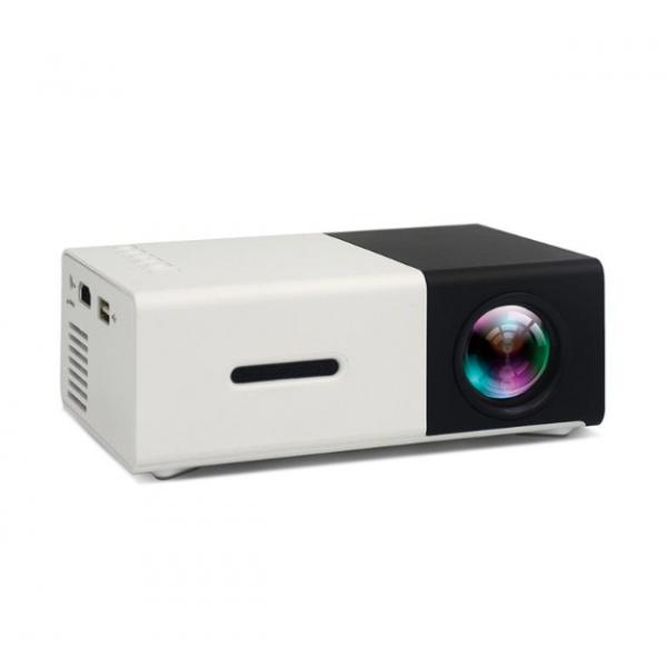 LED проектор Unic YG-300 с поддержкой HD видео портативный мини-проектор и аккумулятор в комплекте (корпус бело-черный)