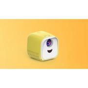 Мини-игрушечный видеопроектор Kids Toy L1 Series с интерфейсом USB (Бело-желтый)