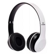 Беспроводные Наушники P-47 Bluetooth + MicroSD + FM Радио (Белые)