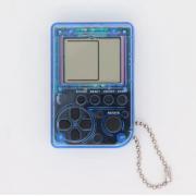 Мини игровая приставка брелок Game Box mini 26 игры (Прозрачно-синяя)