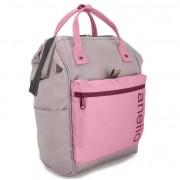 Сумка-рюкзак Anello middle (Серый с розовым)