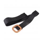 Винтажный ткацкий пояс с пряжкой (Черный)