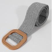 Винтажный ткацкий пояс с пряжкой (Серый)