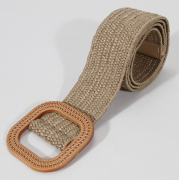 Винтажный ткацкий пояс с пряжкой (Коричневый)