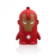 Внешний аккумулятор Power Bank Железный Человек 4400mAh (Красный)