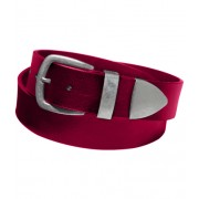 Пояс с металическим наконечником шириной 6 см (Красный)