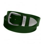 Пояс с металическим наконечником шириной 6 см (Темно зеленый)
