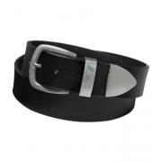 Пояс с металическим наконечником шириной 6 см (Черный)