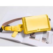 Поясная сумка с заклепками (Желтая)