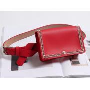 Поясная сумка с заклепками (Красная)
