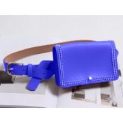 Поясная сумка с заклепками (Синяя)